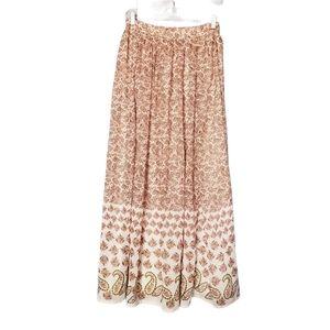 Walter Baker Paisley Print Boho Gypsy Maxi Skirt